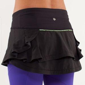 Lululemon || green & black presta skirt